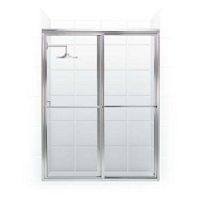 Newport Series 52 in. x 70 in. Framed Sliding Shower Door with Towel Bar in Chrome and Clear Glass