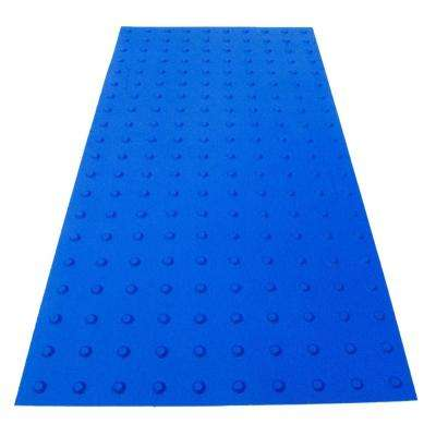 PowerBond 24 in. x 4 ft. Blue ADA Warning Mat (Peel and Stick)