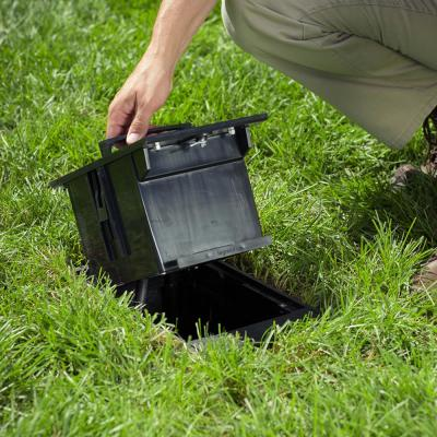 Wiremold 2-Gang Black Outdoor Ground Box