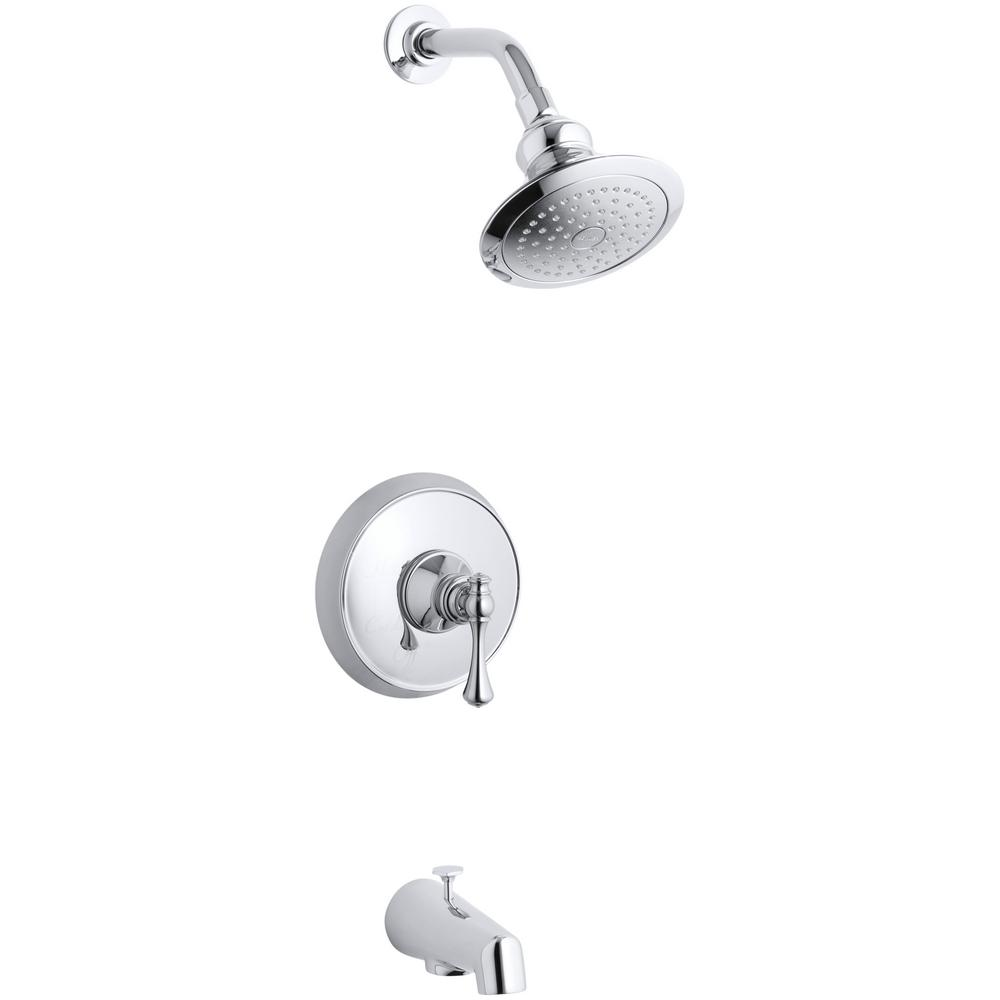 KOHLER Revival 1-Handle 1-Spray 2.5 GPM Tub and Shower Faucet with Traditional Lever in Polished Chrome (Valve Not Included) was $460.35 now $230.18 (50.0% off)