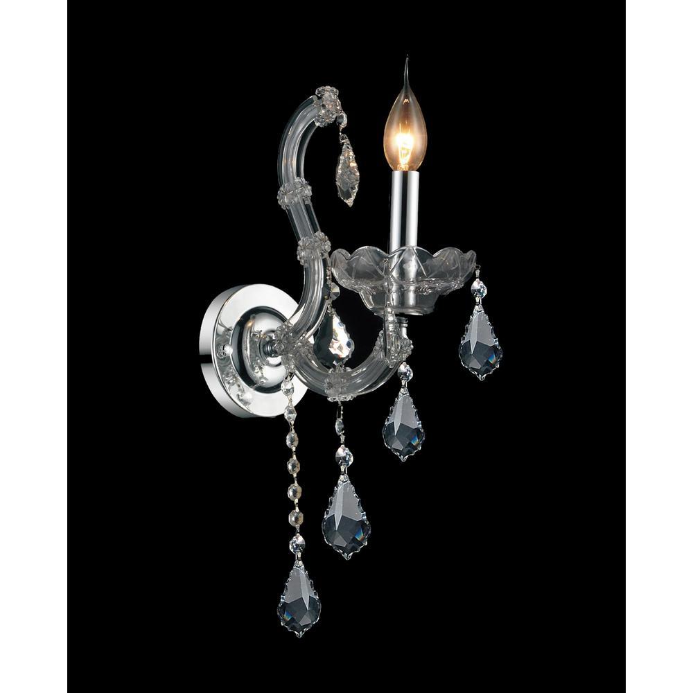 Maria Theresa 1-Light Chrome Sconce