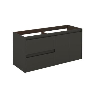 Ambra 120 DBL 47.5 in. W x 17.6 in. D x 21.8 in. H Bath Vanity Cabinet Only in Anthracite