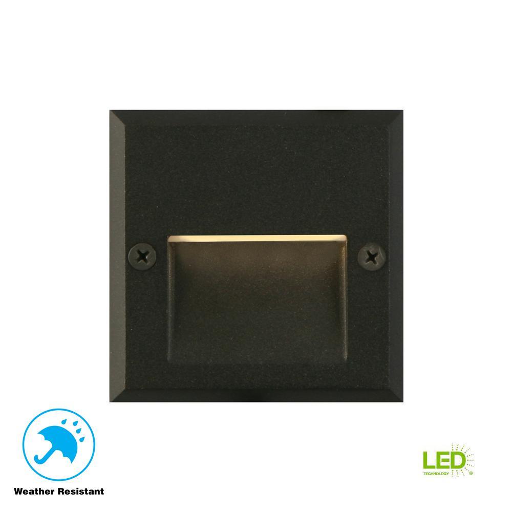 10-Watt Black Outdoor Integrated LED Landscape Path Light