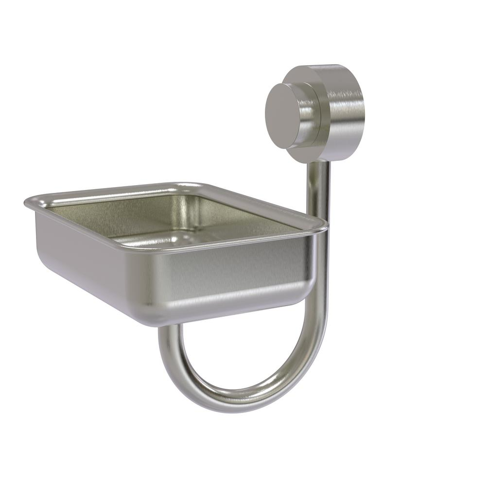 Venus Collection Wall Mounted Soap Dish in Satin Nickel