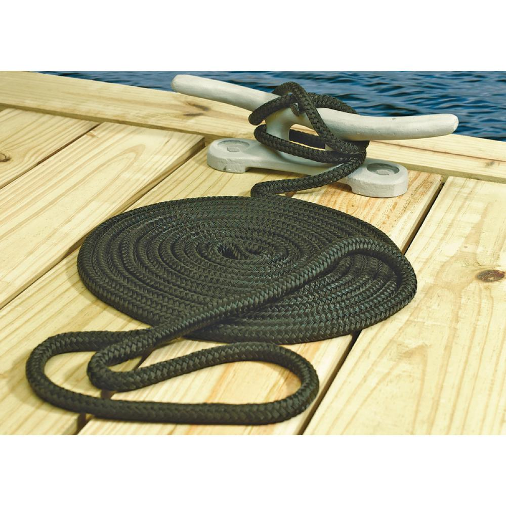 "NEW 3-Strand Twisted Nylon Dock Lines Boat Mooring Rope 3//8/""x 35/' Black US STOCK"
