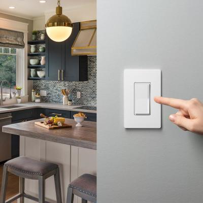 Sunnata Touch Dimmer with LED Plus Technology, Single Pole/3-Way, LED Incandescent/Halogen with Claro Wallplate, White