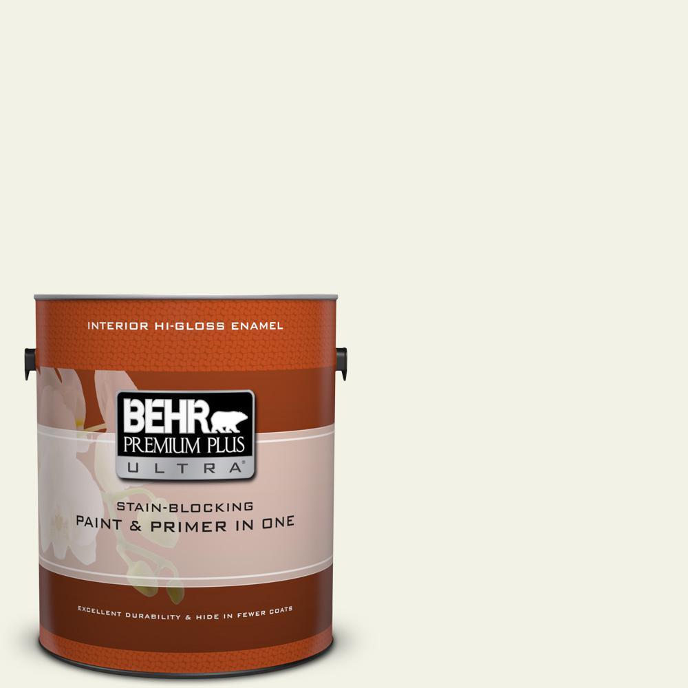 1 gal. #PPL-57 White Smoke Hi-Gloss Enamel Interior Paint