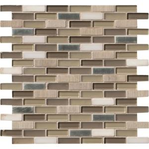 Msi Silver Tip 12 In X Gl Stone Metal Blend Mesh Mounted Mosaic Wall Tile Sglsmt St8mm The Home Depot