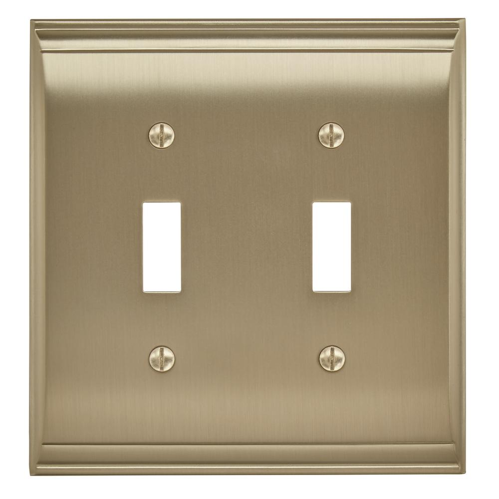 Candler 2 Toggle Golden Champagne Wall Plate