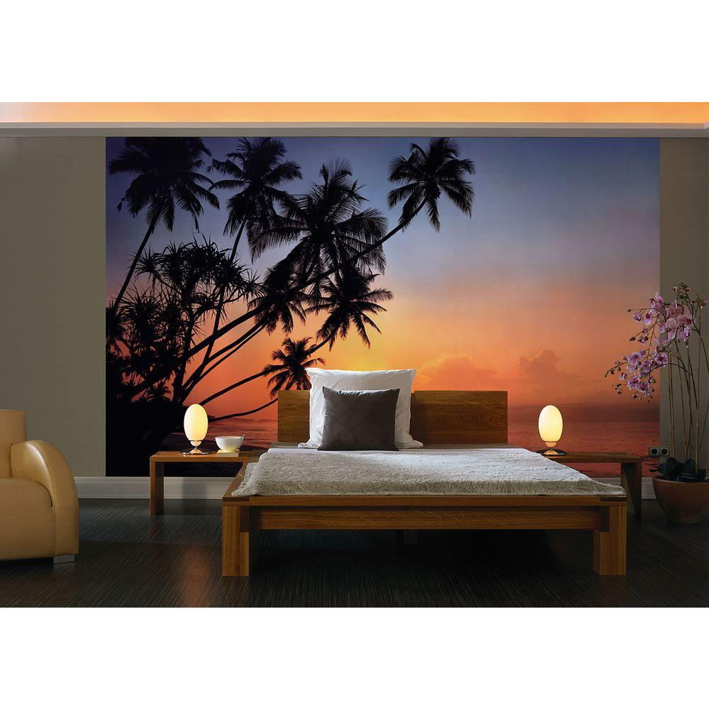 Komar 106 in. x 153 in. Tropical Sunset Wall Mural