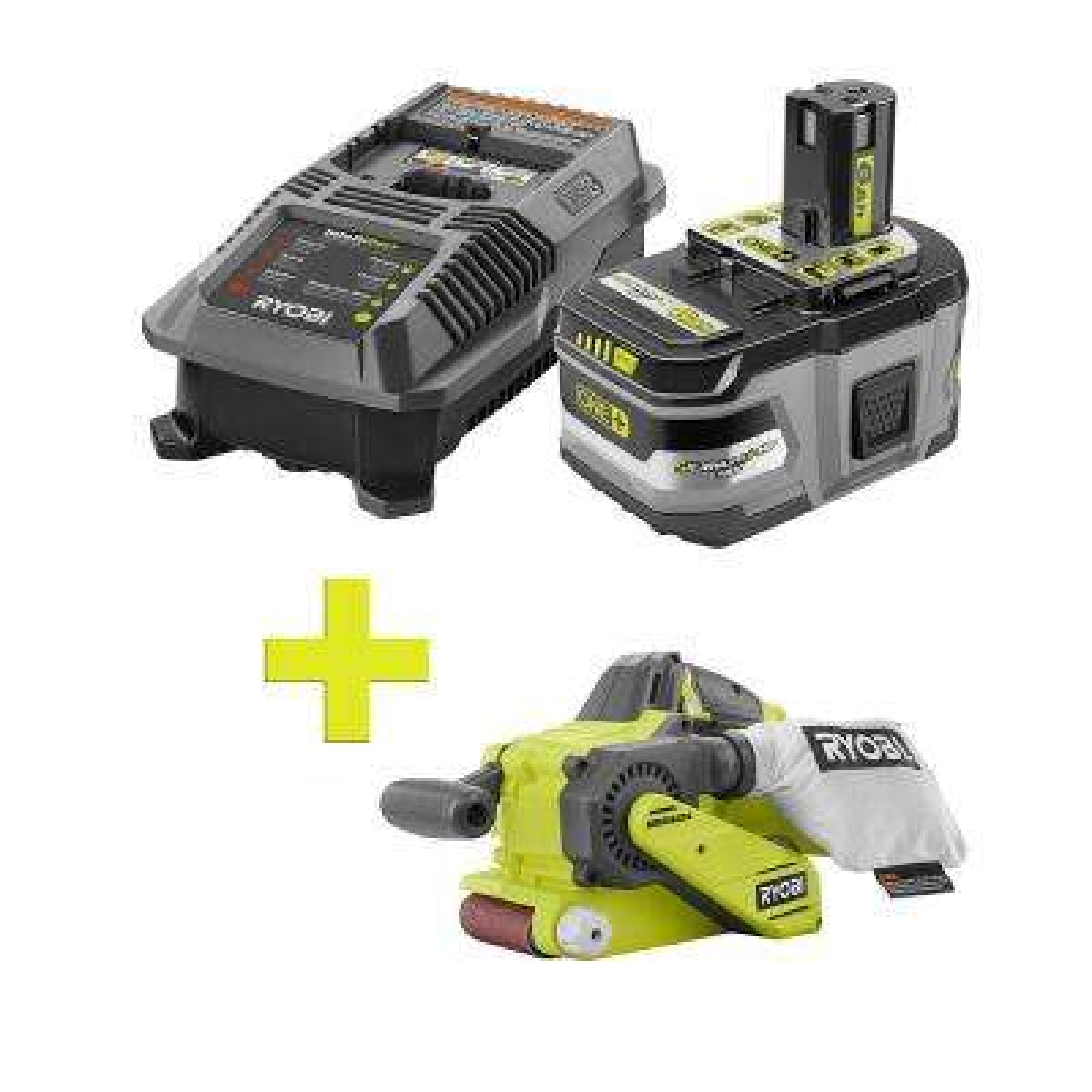18-Volt ONE+ Lithium-Ion LITHIUM+ HP 6.0 Ah Starter Kit w/ Bonus ONE+ Brushless Belt Sander