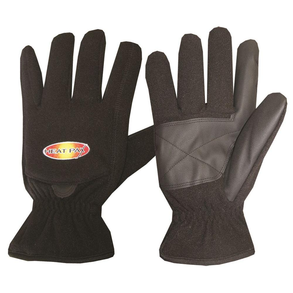 ThermaFur Large Black Heated Fleece Gloves