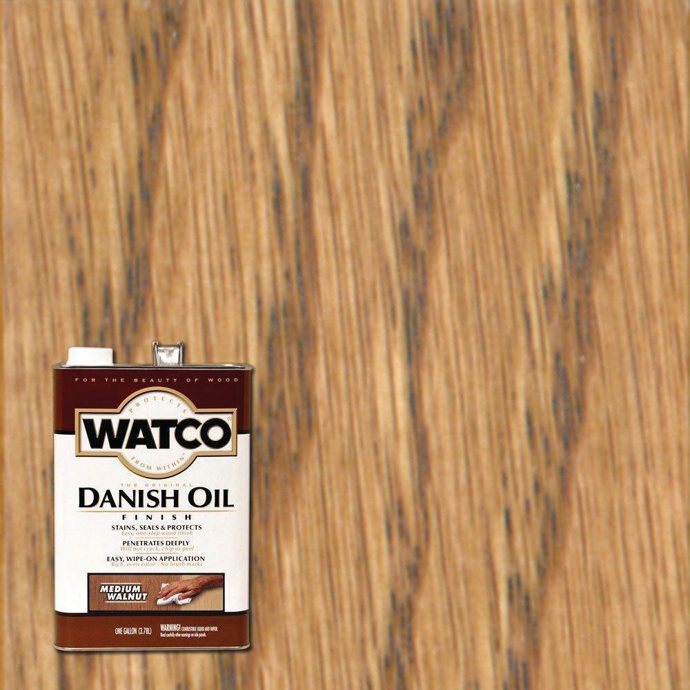Watco 1 gal. Medium Walnut 350 VOC Danish Oil (2-Pack)