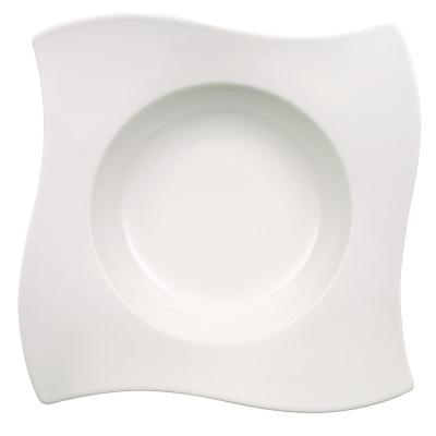 New Wave White Porcelain Pasta Plate