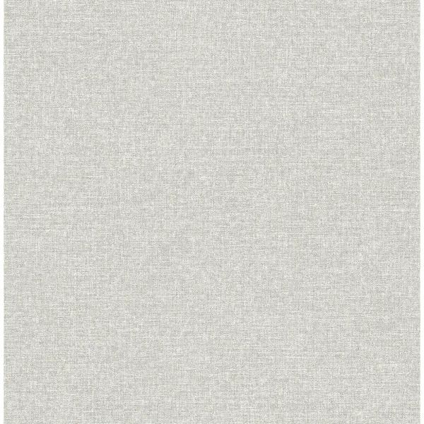 A-Street 56.4 sq. ft. Asa Grey Linen Texture Wallpaper 2889-25239