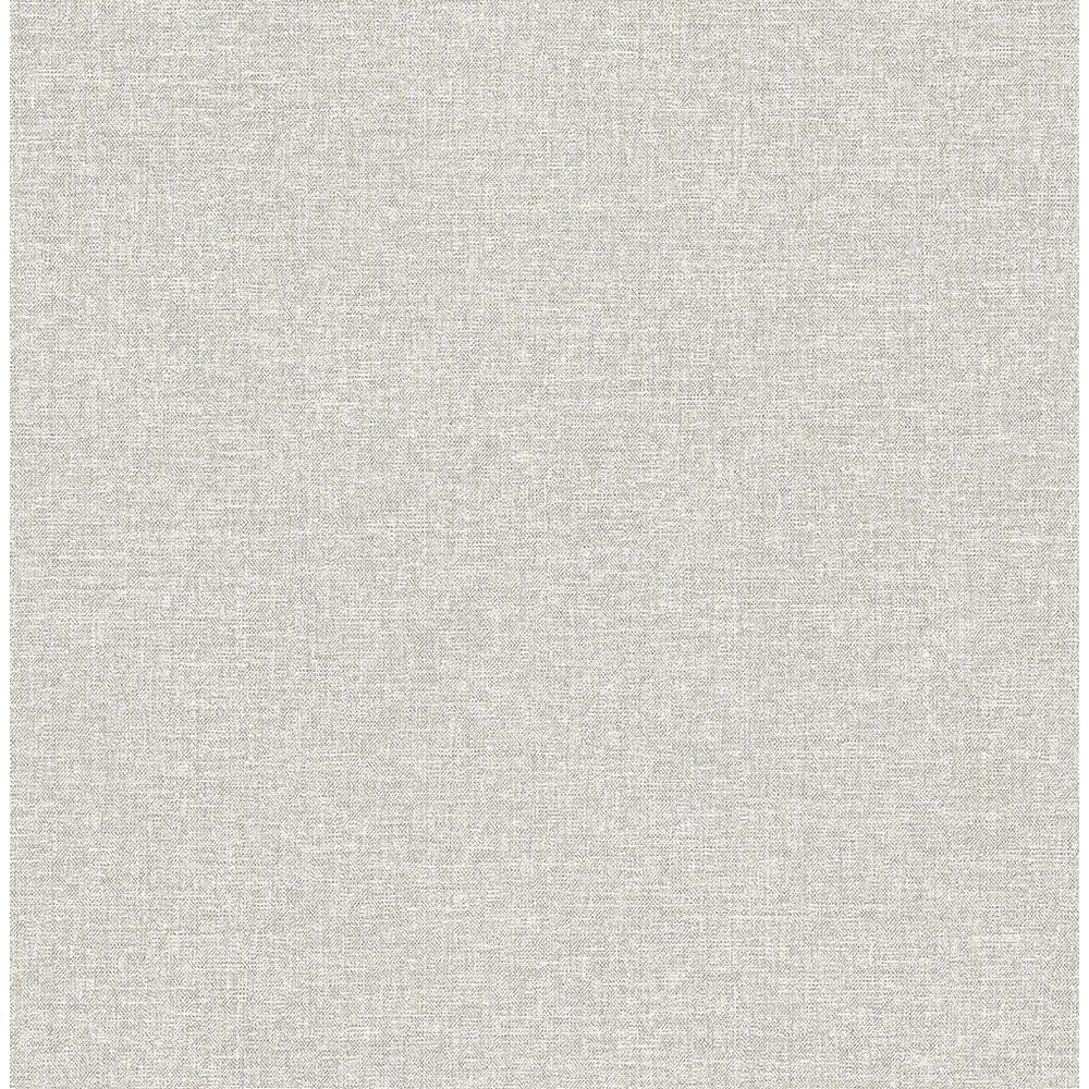 Asa Grey Linen Texture Strippable Wallpaper (Covers 56.4 sq. ft.)