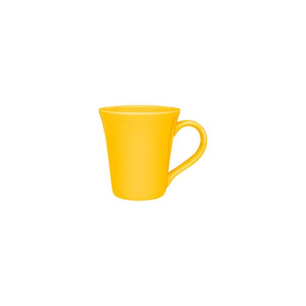 Floreal 11.16 oz. Yellow Earthenware Mugs (Set of 12)