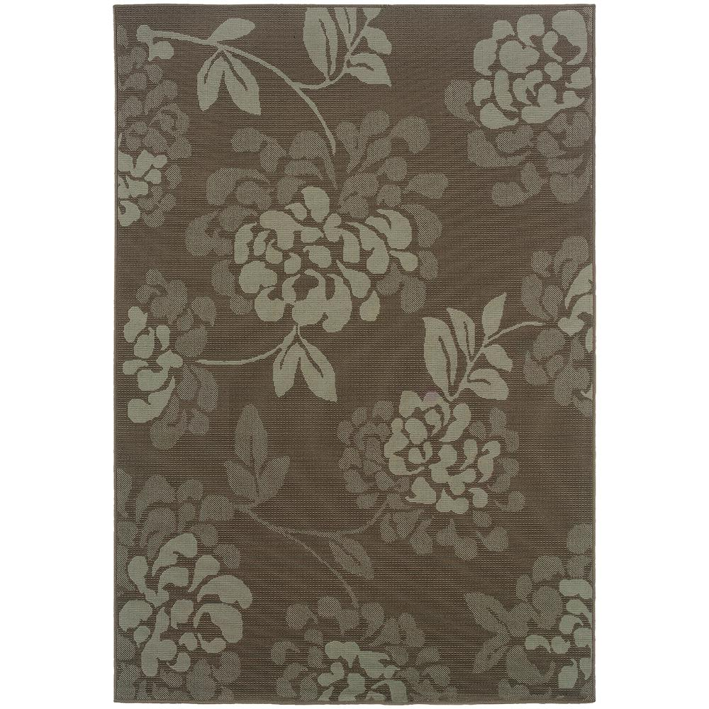 Trinidad Grey 5 ft. x 8 ft. Indoor/Outdoor Area Rug