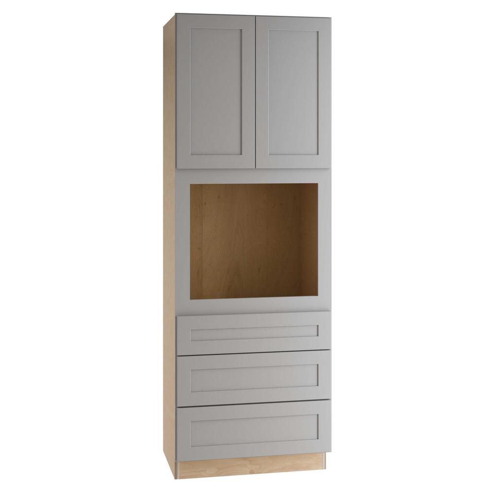 Home Decorators Collection Tremont Assembled 33 X 96 X 24 In Pantry Utility Cabinet With 3 Soft