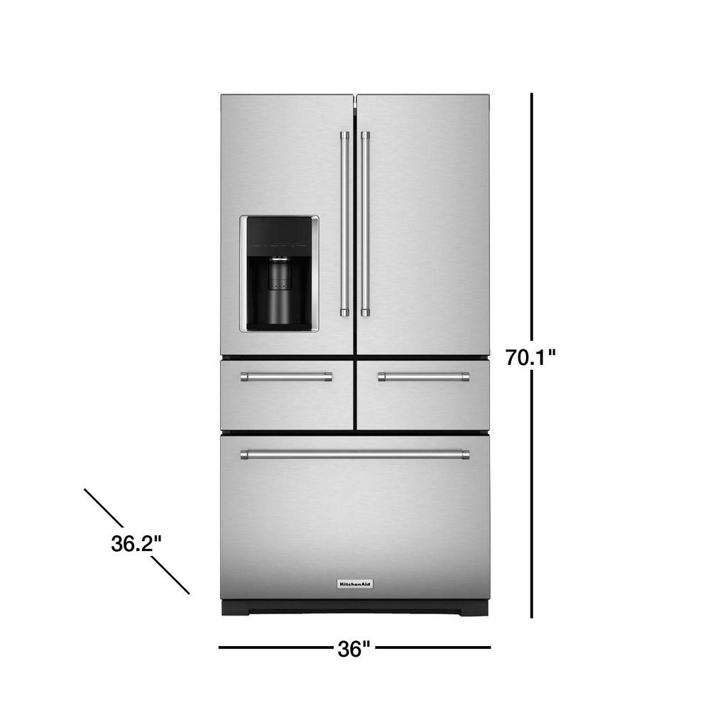 KitchenAid 25.8 cu. ft. French Door Refrigerator in Stainless Steel with  Platinum Interior