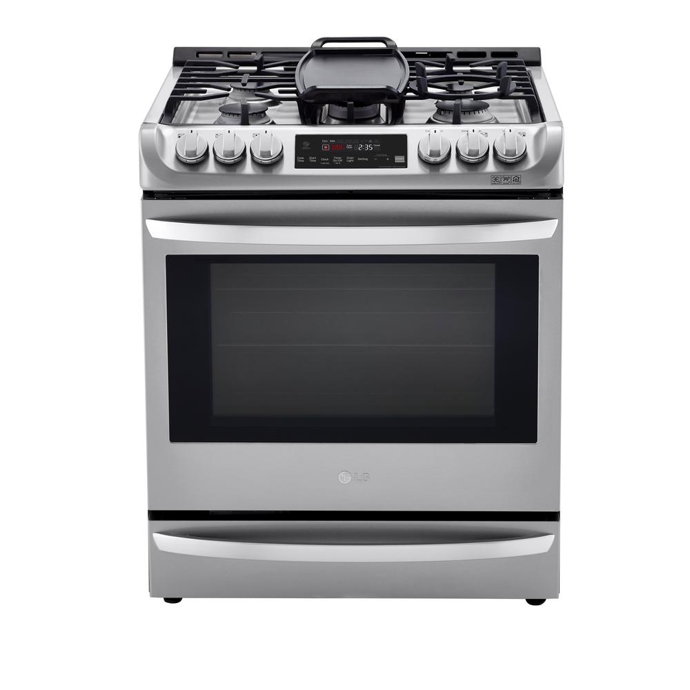 6.3 cu. ft. Slide-In Smart Dual-Fuel Electric Range with ProBake Convection