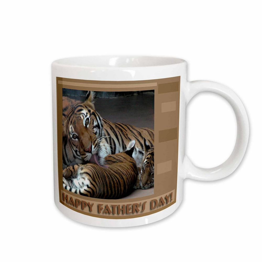 3dRose Beverly Turner Fathers Day Design and Photography Tiger with ... 5fb5ad5f9c8f