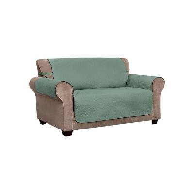 Belmont Leaf Secure Fit Loveseat Moss Furniture Cover Slipcover