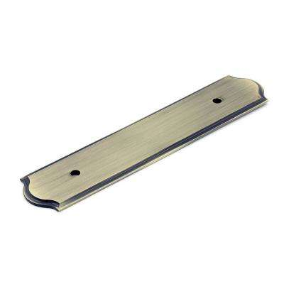 3-25/32 in. (96 mm) Antique English Backplate for Pull