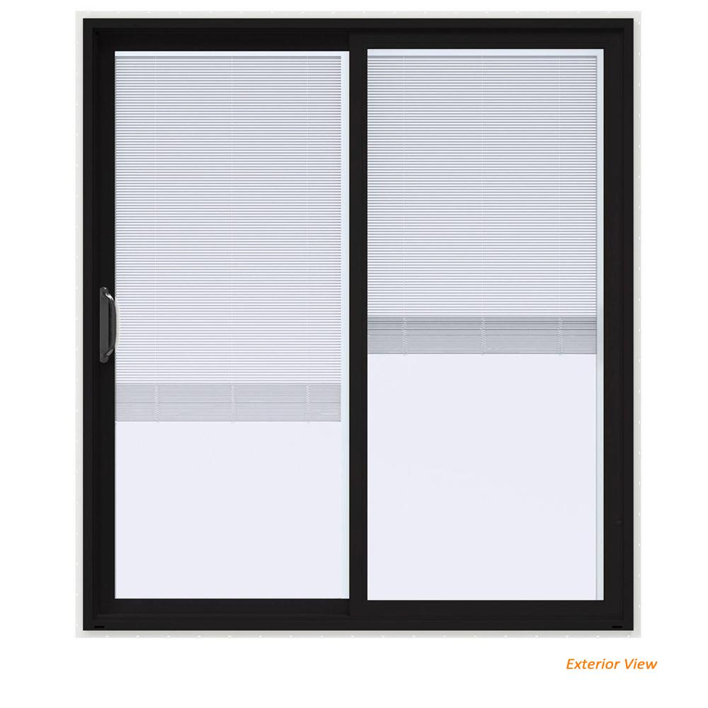 Jeld Wen 72 In X 80 In V 4500 Contemporary Black Paint
