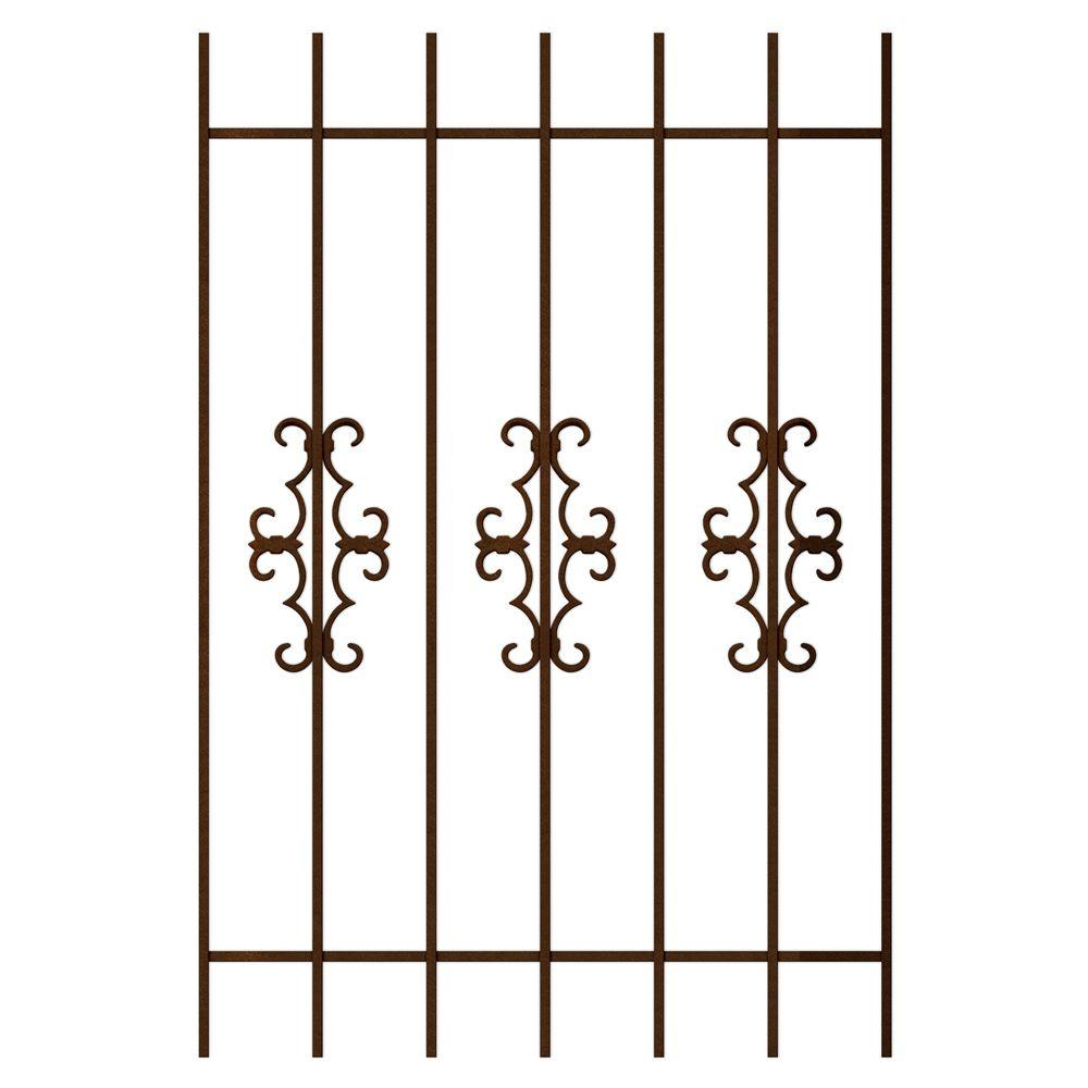 Unique Home Designs Watchman Trio 36 in. x 54 in. Copper 7-Bar Window Guard-DISCONTINUED