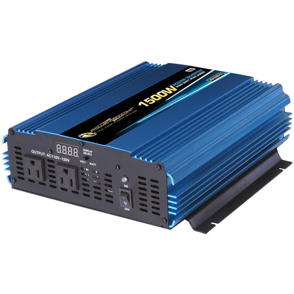 Power Bright 12 Volt DC to AC 1500-Watt Power Inverter by Power Bright