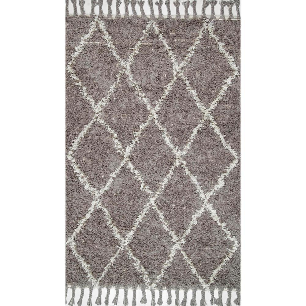 Nu Loom Shag Natural Gray Area Rug