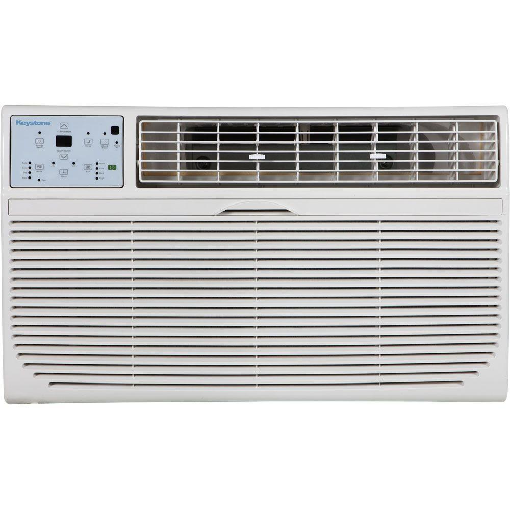 Keystone 8,000 BTU 115-Volt Through-the-Wall Air Conditioner with LCD Remote Control
