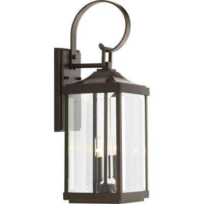Gibbes Street Collection 2-Light Antique Bronze 21.75 in. Outdoor Wall Lantern Sconce