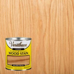 Varathane 1 Qt Golden Pecan Classic Wood Interior Stain 339715 The Home Depot