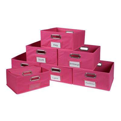 Cubo 12 in. W x 6 in. H Pink Folding Fabric Bin (12-Pack)