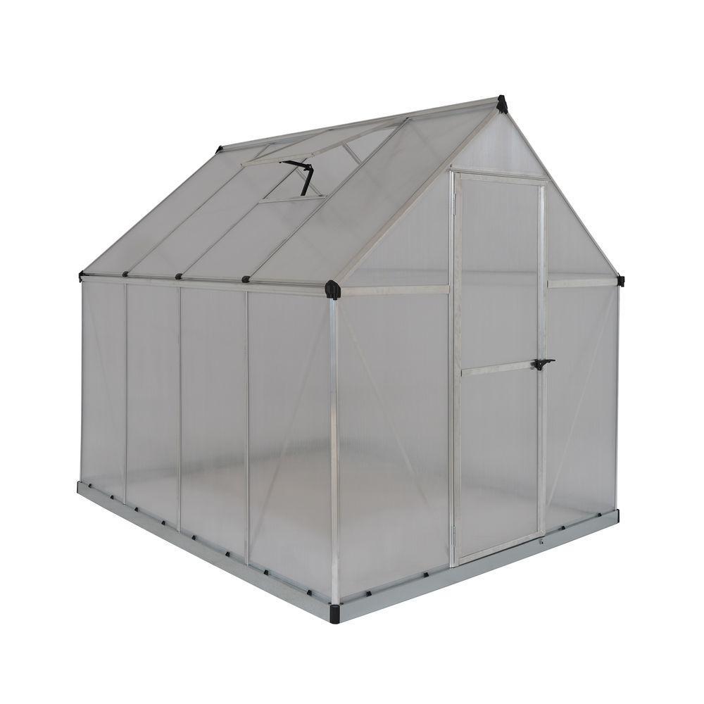 Palram Multi Line 6 ft. x 8 ft. Aluminum Frame Polycarbonate Greenhouse