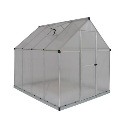 Multi Line 6 ft. x 8 ft. Aluminum Frame Polycarbonate Greenhouse