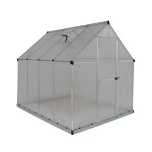 Groovy Palram Harmony 6 ft. x 4 ft. Polycarbonate Greenhouse in Silver LC28