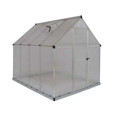 Multi Line 6 ft. x 8 ft. Silver Twin-Wall Greenhouse
