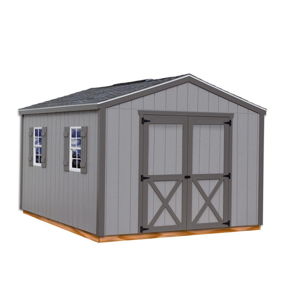 Wood storage shed kit with