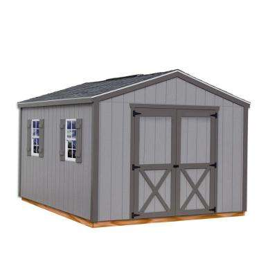 Elm 10 ft. x 12 ft. Wood Storage Shed Kit with Floor