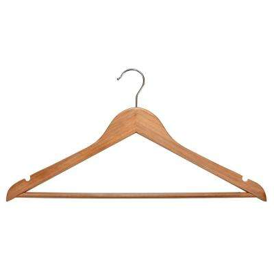 Natural Wooden Hanger (30-Pack)