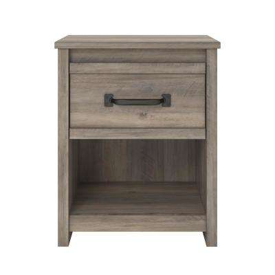 Amherst Gray Oak Nightstand