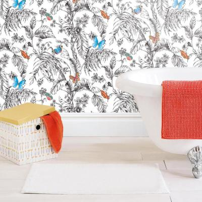 28.29 sq. ft. Butterfly Sketch Peel and Stick Wallpaper