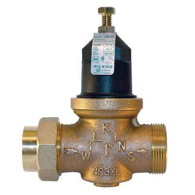 1-1/2 in. Lead-Free Bronze Water Pressure Reducing Valve with Integral By-Pass Check Valve And Strainer
