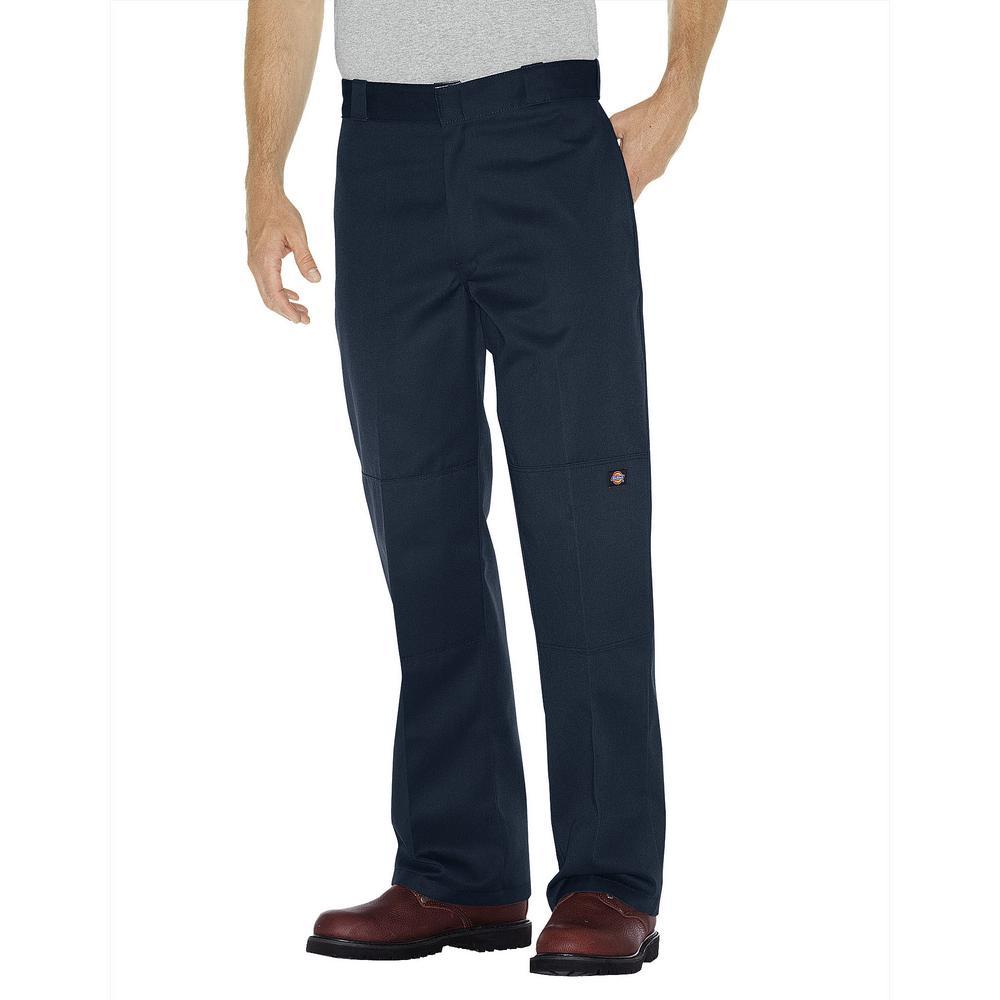 Dickies Men's Dark Navy Loose Fit Double Knee Work Pants