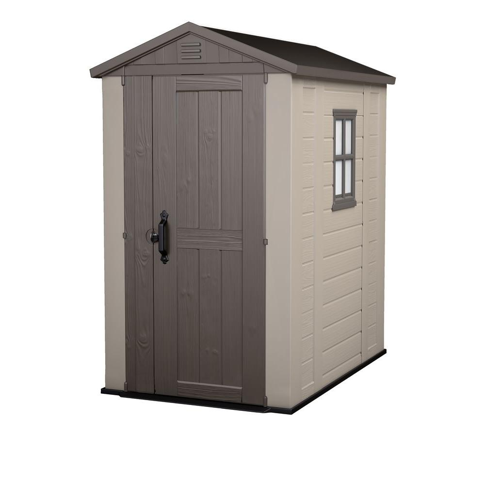 keter factor 4 ft x 6 ft outdoor storage shed - Garden Sheds 7 X 3