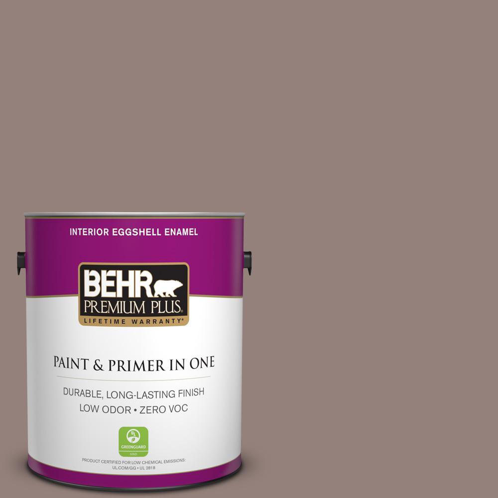 BEHR Premium Plus 1-gal. #750B-5 Castle Hill Zero VOC Eggshell Enamel Interior Paint