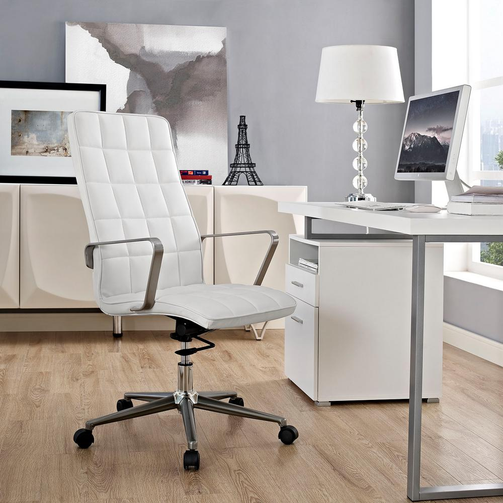 Tile Highback Office Chair in White